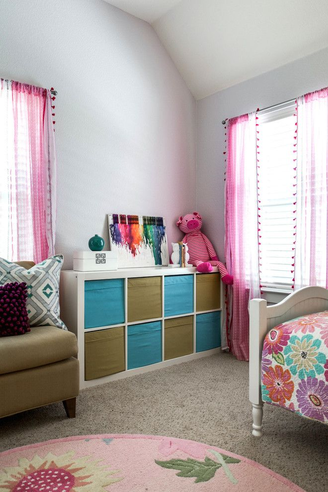 Primos Dallas for a Transitional Kids with a Patterns and Ponder Transitional Girl's Bedroom by Carolina v. Gentry, Rid