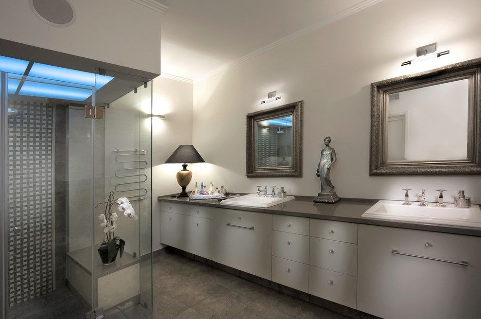 Primping for a Contemporary Bathroom with a Mosaic Tiles and Bathroom by Elad Gonen