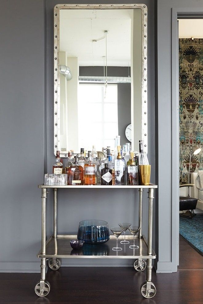 Primping for a Industrial Home Bar with a Drinks Cabinet and Toronto Loft by Elte