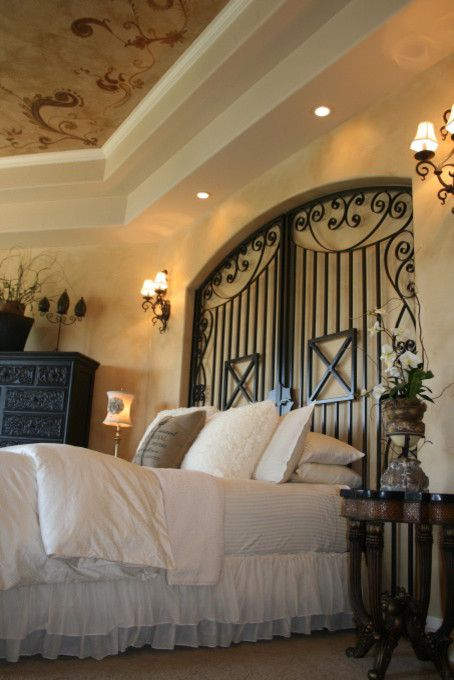 Primping for a Mediterranean Bedroom with a Suite and Sandy by Primp Interior Staging