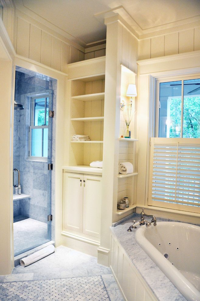 Primping for a Traditional Bathroom with a Lowcountry Architecture and May River Custom Home by Hansen Architects, P.c.