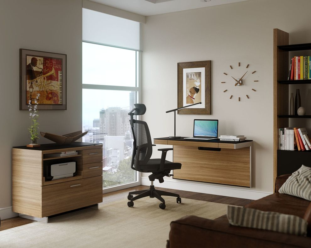 Printers Alley Nashville for a Contemporary Home Office with a Floating Desk and Bdi Furniture by Bdi Furniture