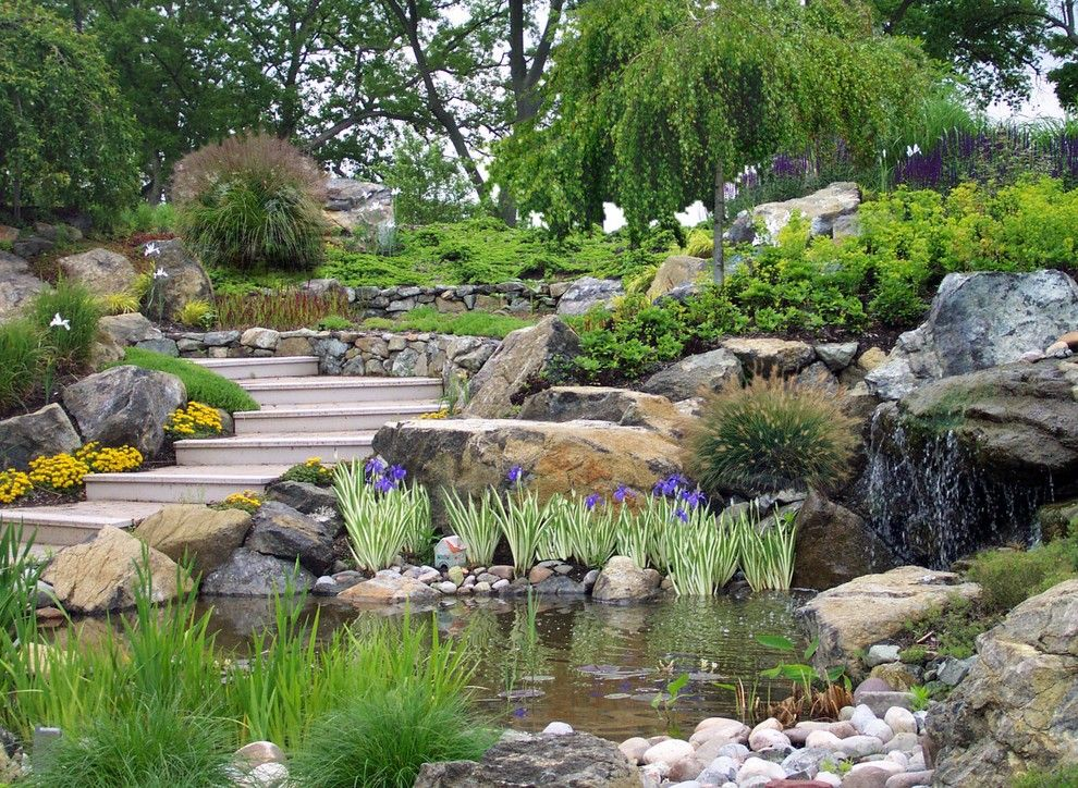 Pro Direct for a Contemporary Landscape with a Landscape Waterfalls and Creative Sustainable Waterfront Landscape Design Eastern Shore Md by Creative Land Design