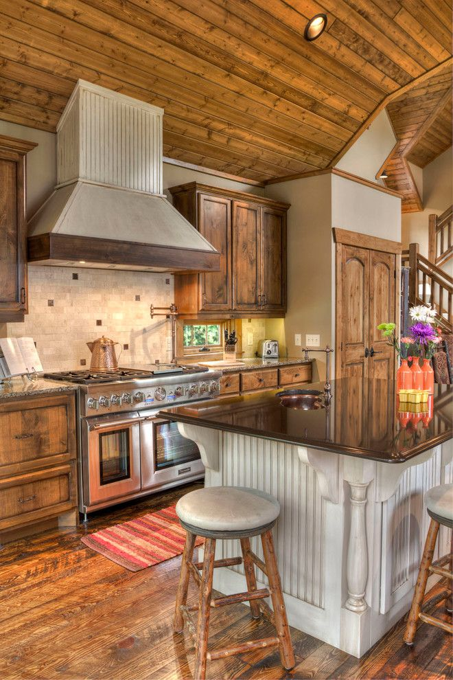 Pro Direct for a Rustic Kitchen with a Cabin and Lower Whitefish Lake 7 by Lands End Development   Designers & Builders