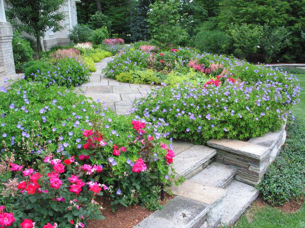 Proflower for a Traditional Landscape with a Grass and Perennials by Dorer & Associates Inc.