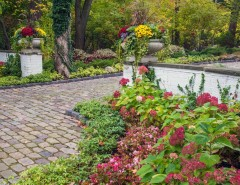 Proflower for a Traditional Landscape with a Stone Pavers and Ravine Garden Oasis by NLH Landscape Architects