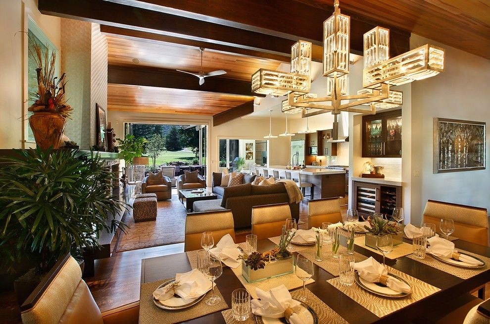 Promontory Park City for a Contemporary Dining Room with a Dinnerware and Thaynes Canyon Home, Park City, Ut by Broman Architects