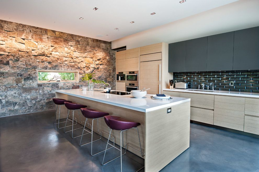 Promontory Park City for a Contemporary Kitchen with a Metallic Tile and Park City Modern by Jamesthomas Interiors