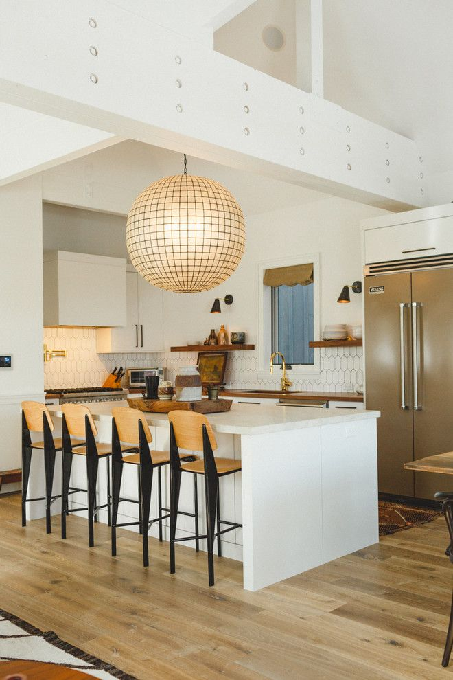 Promontory Park City for a Contemporary Kitchen with a Wide Plank Flooring and Park City Old Town Project by Brian David Roberts | Interior Planning & Design