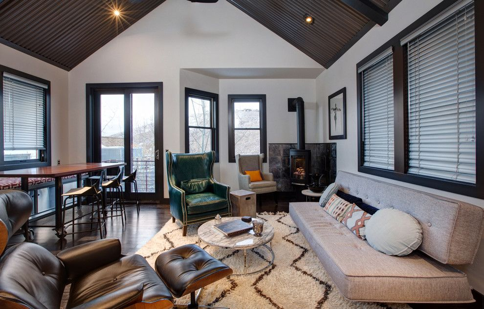 Promontory Park City for a Contemporary Living Room with a Wingback Armchair and Lowell Ave. Park City Utah by Todd Arenson Construction