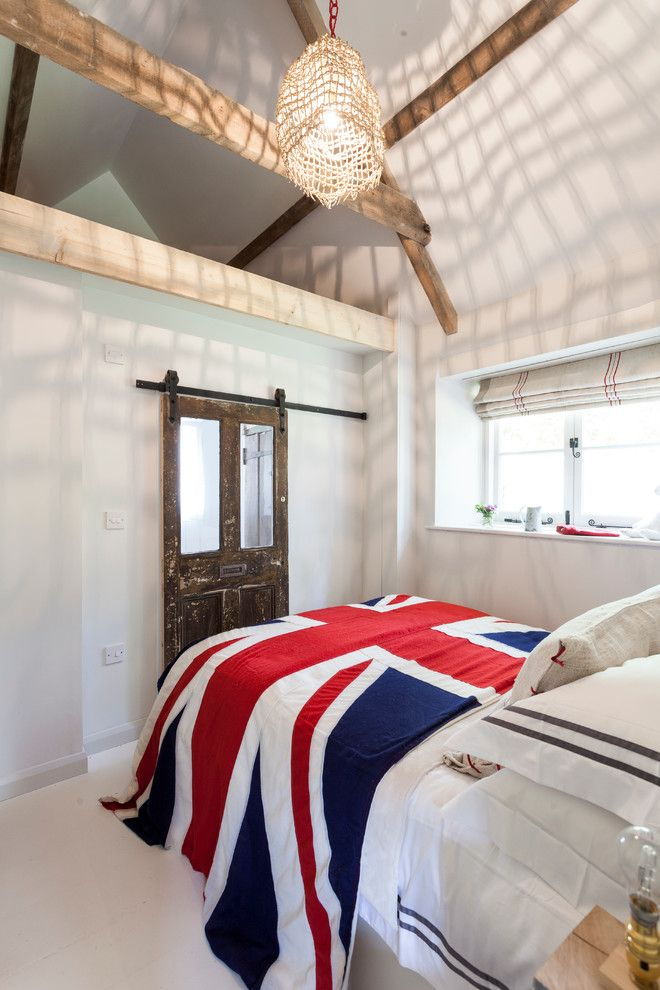 Proper Way to Hang American Flag for a Shabby Chic Style Bedroom with a Photography and the Island by Chris Snook