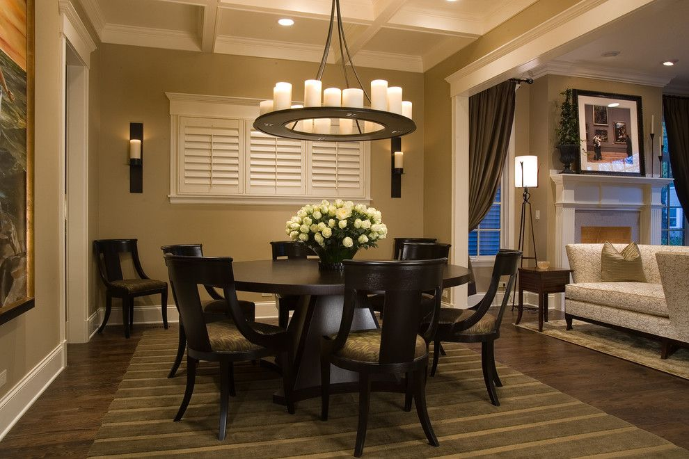 Proper Way to Hang American Flag for a Traditional Dining Room with a Wall Lighting and Wolfram Dining Room by Michael Abrams Limited