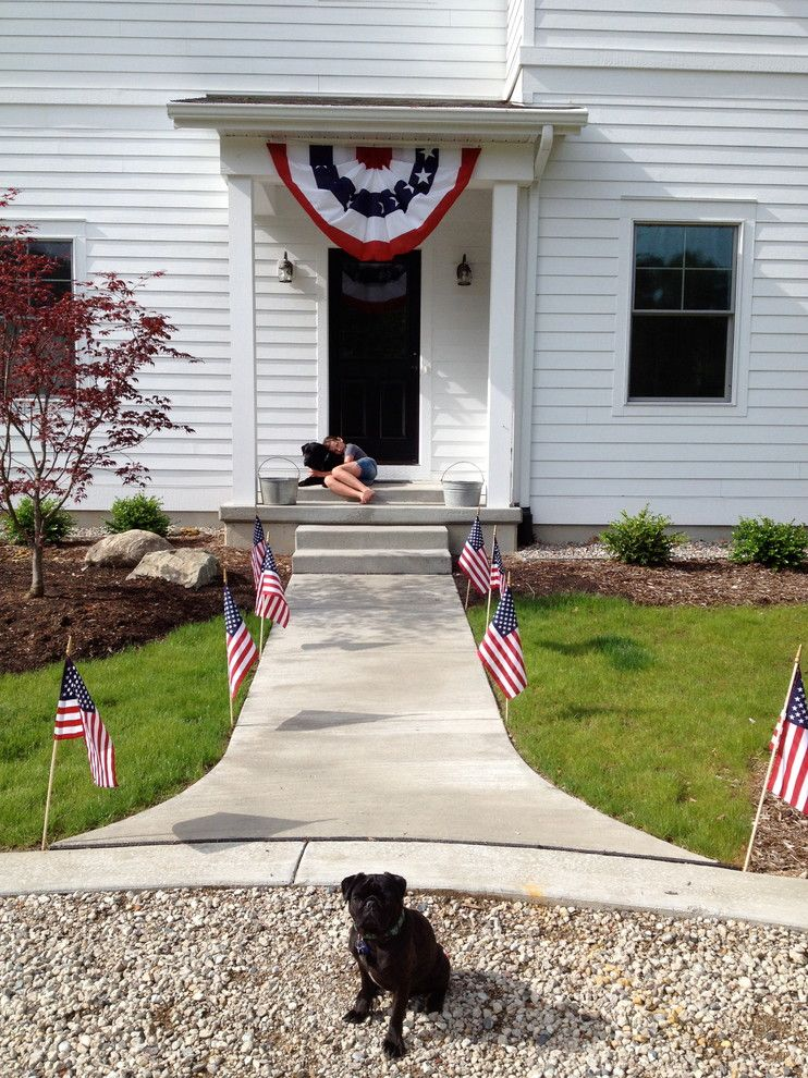 Proper Way to Hang American Flag for a Traditional Porch with a Traditional and Fourth of July by Alison Hodgson