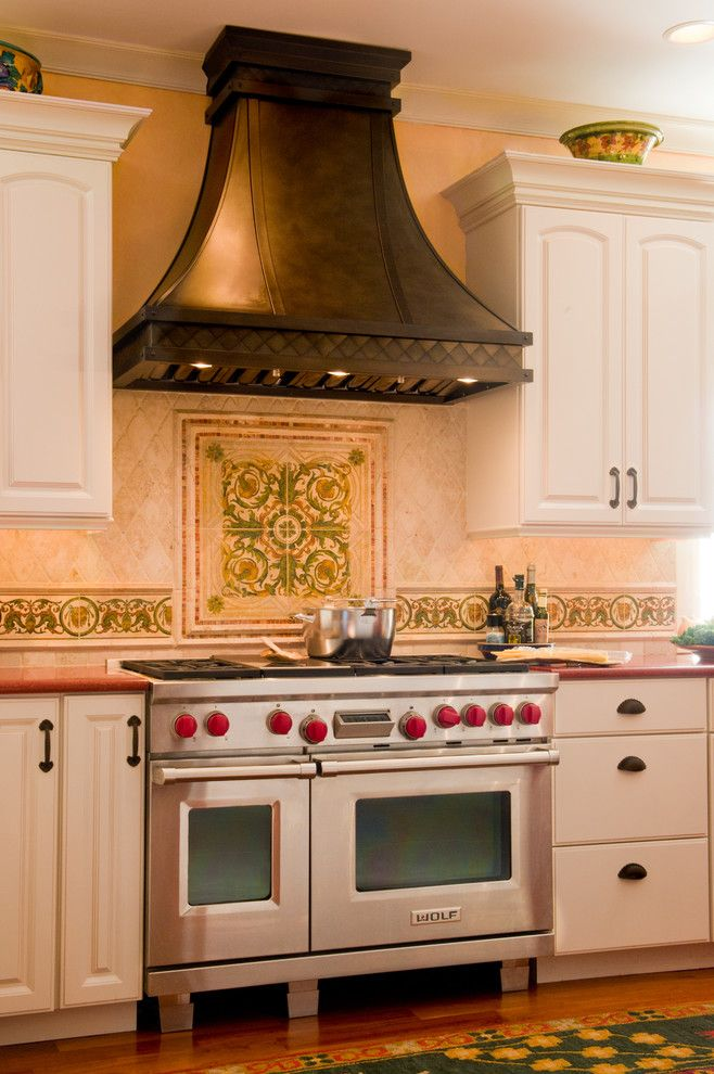 Prosource Wholesale for a Mediterranean Kitchen with a Custom Cabinetry and Daniela Cottingham by Daniela Cottingham / Pro Source Wholesale