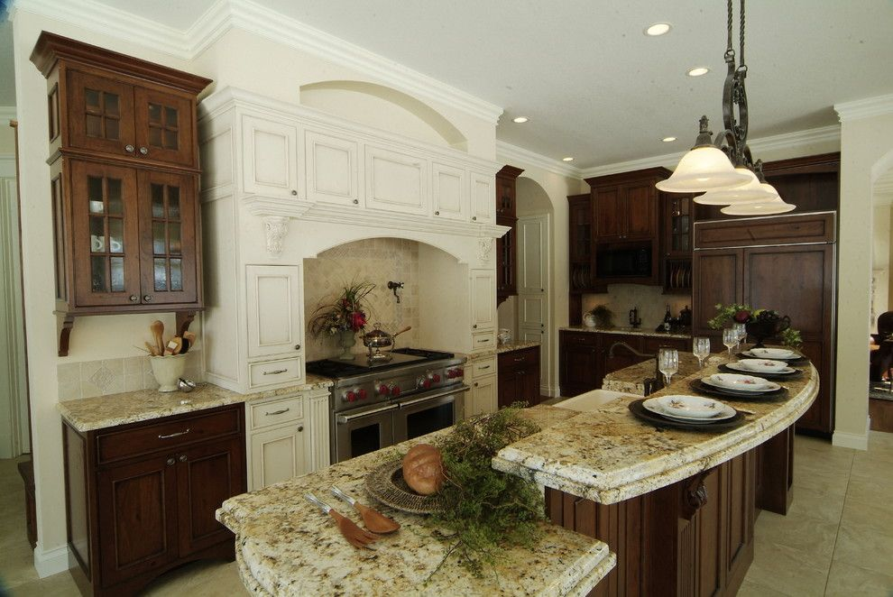 Providence at Brier Creek for a Traditional Kitchen with a Cabinet Front Refrigerator and Cherry Creek Cabinetworks by Cherry Creek, Inc.
