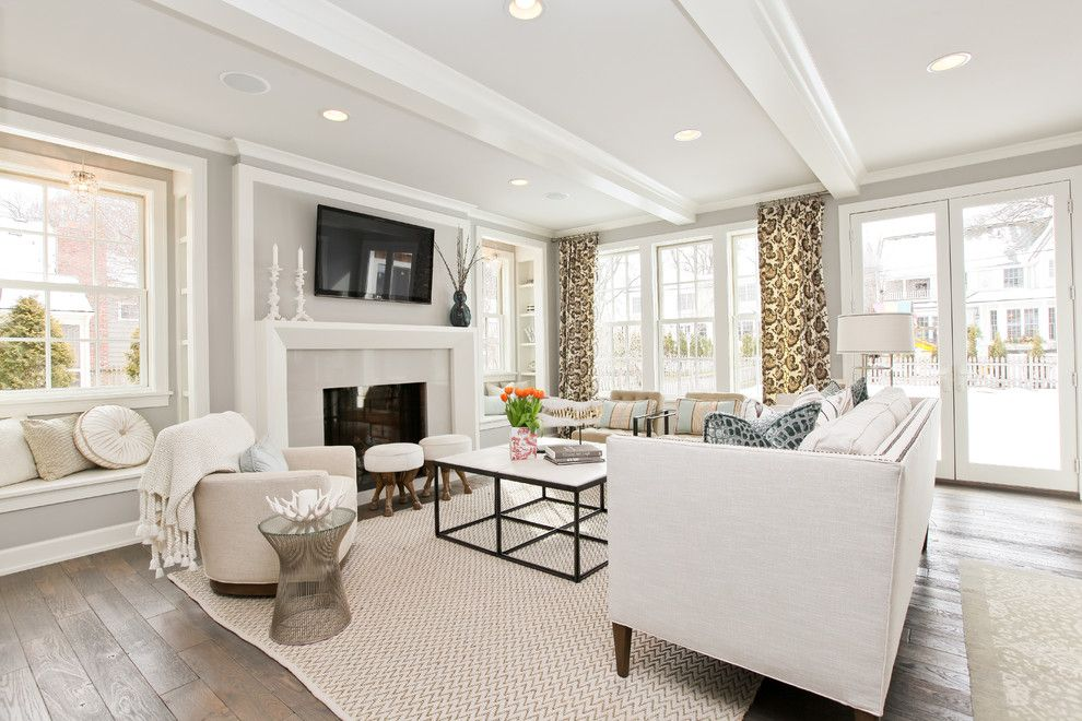 Providence at Brier Creek for a Transitional Living Room with a Wood Flooring and Modern Cottage Dream Home in Edina by Refined Llc
