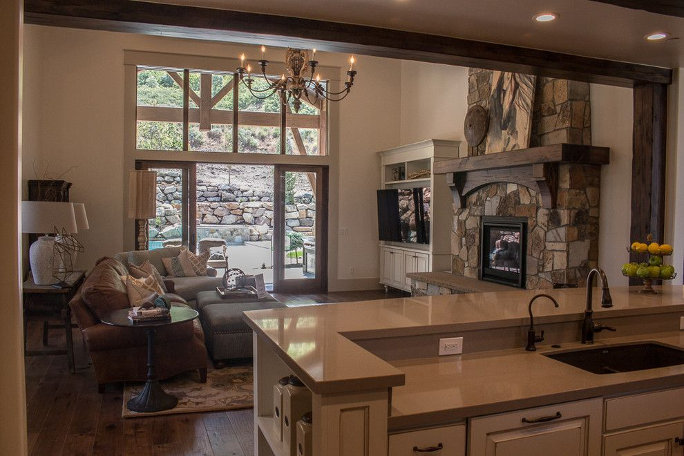 Provo Theater for a Craftsman Family Room with a Master Suite and Alpine   Parade of Homes 2015 by Raykon Construction