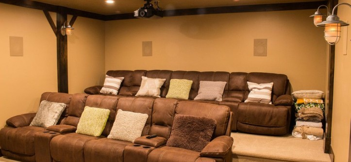 Provo Theater for a Craftsman Home Theater with a Utah and Timberlakes Cabin by Raykon Construction