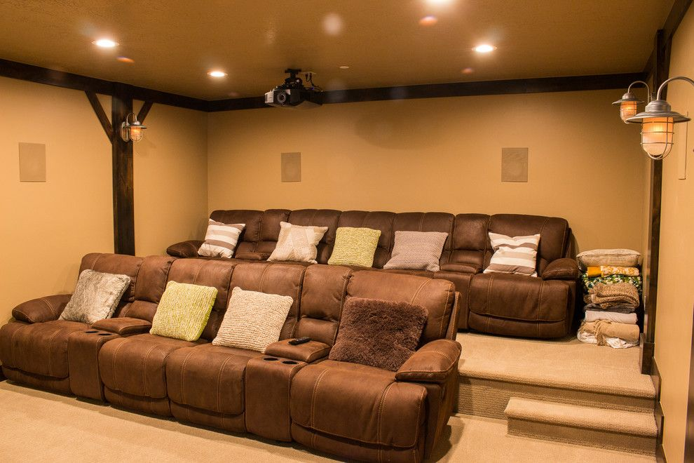 Provo Theater For A Craftsman Home Theater With A Spanish