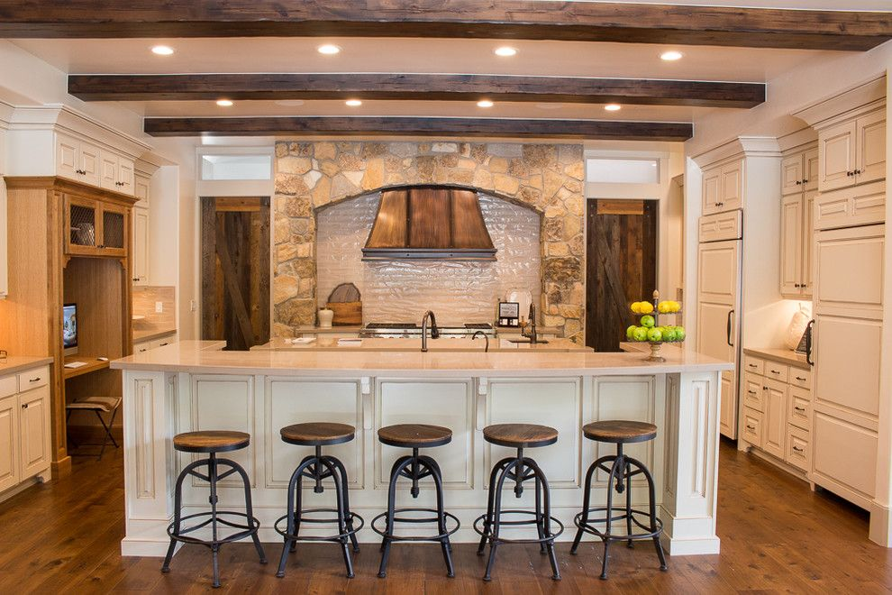Provo Theater for a Craftsman Kitchen with a Spiral Staircase and Alpine   Parade of Homes 2015 by Raykon Construction