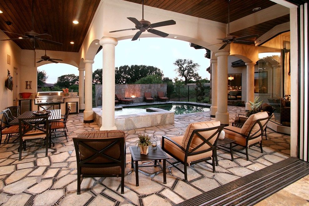 Punta Espada Golf Course for a Traditional Patio with a Side Table and Horseshoe Bay Parade Home by Zbranek & Holt Custom Homes