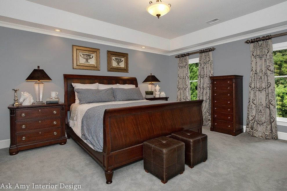 Quail Hollow Country Club for a Transitional Bedroom with a High End Bedroom and Quail Hollow Country Club, Charlotte Nc by Ask Amy Interior Design