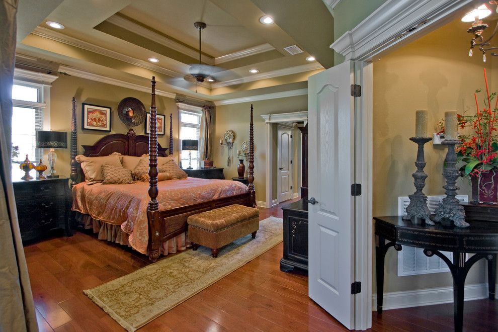 Quail Valley Golf Course for a Traditional Bedroom with a Light Wood Floors and Gorgeous Master Suite in Hurricane Lake by D&d Homes by D&d Homes