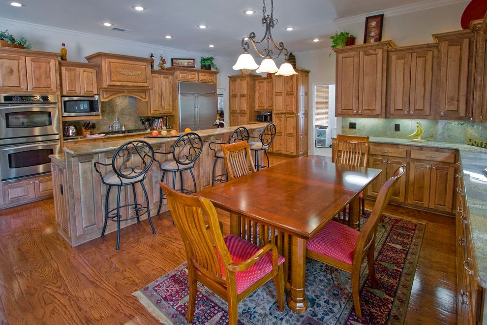 Quail Valley Golf Course for a Traditional Kitchen with a Bar Chair and Custom Hurricane Lake Estates Home with Open Kitchen by D&d Homes