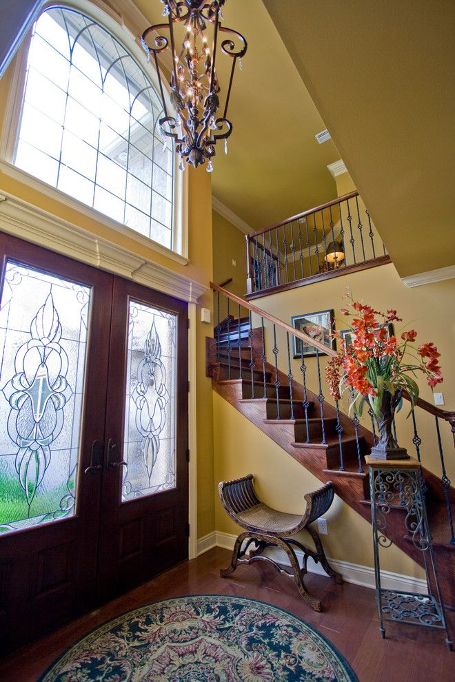 Quail Valley Golf Course for a Transitional Entry with a Stairway and Beautiful Foyer by D&d Homes in Hurricane Lake Estates by D&d Homes