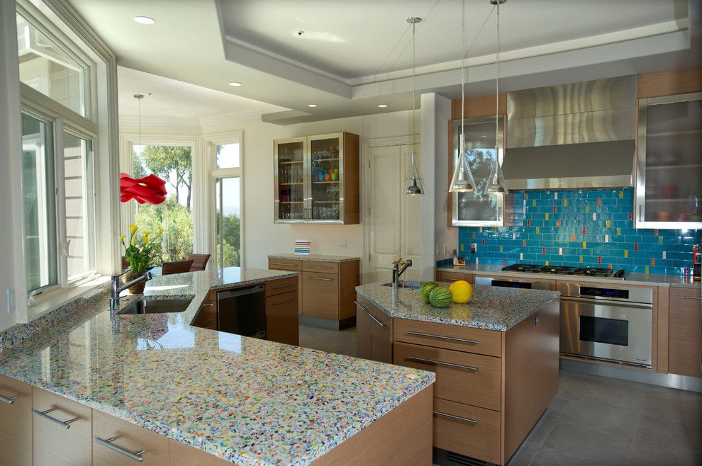 Quartz Countertops vs Granite for a Contemporary Kitchen with a Cabinetry and San Rafael, Ca Kitchen  From Traditional to Contemporary by Uhrich Design
