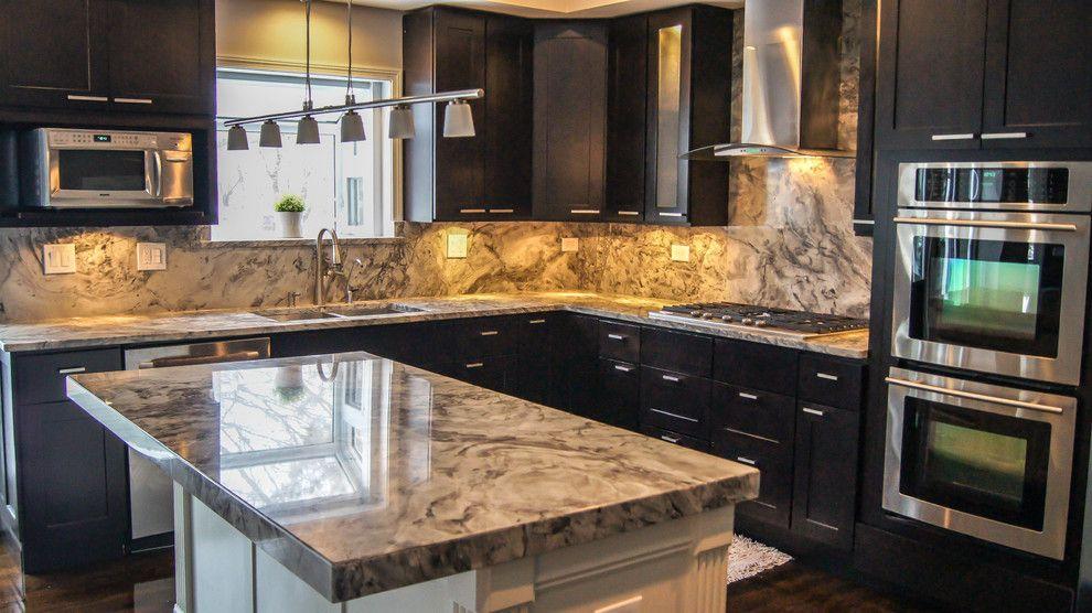 Quartz Countertops vs Granite for a Contemporary Kitchen with a Quartzite Countertops and Kitchen Redesign by Precision Stone Design