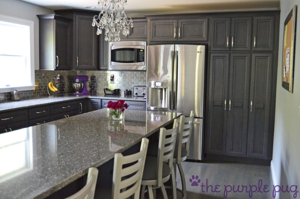 Quartz Countertops vs Granite for a Eclectic Kitchen with a Hood and Kitchen Remodel by Kristymc