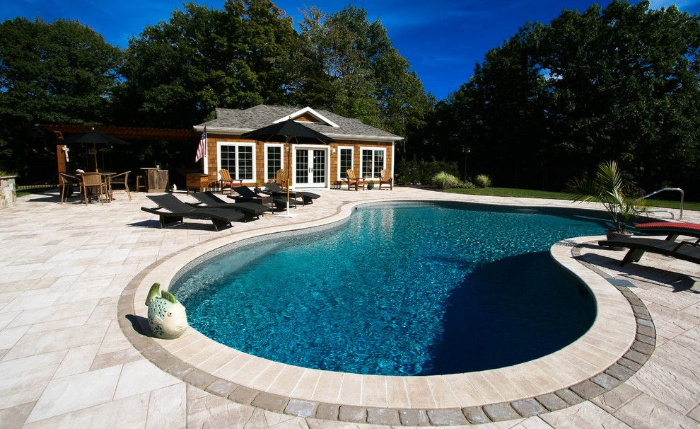 Railroad Tie Retaining Wall for a Craftsman Patio with a Stone Patios and Paver Patios, Stone Patios, Retaining Walls | Albany, Troy, Clifton Park, Latham by Pearl Landscaping & Patio Company