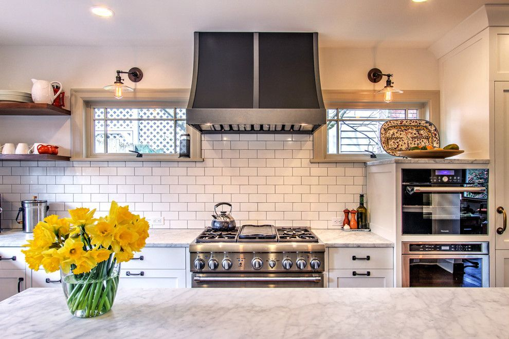 Rainforest Cafe Seattle for a Traditional Kitchen with a 3x6 Subway Tile and Tudor Kitchen by Adapt Architecture