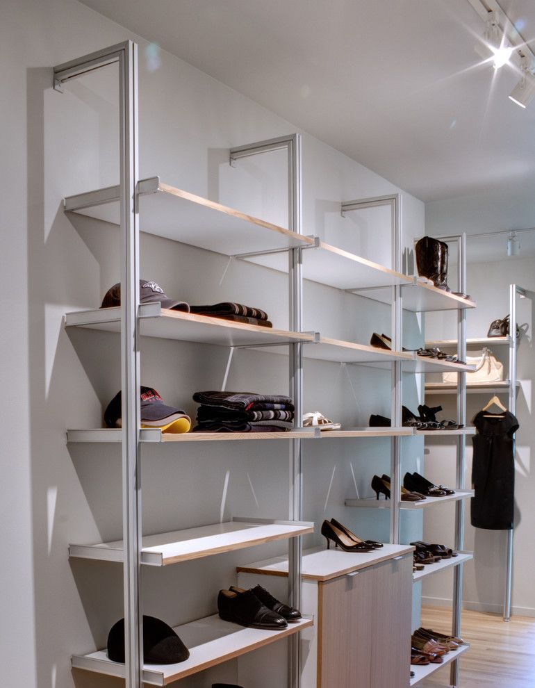 Rakks Brackets for a Modern Closet with a Lighting and Modern Oak Hill Residence by Marcus Dipietro, Architect