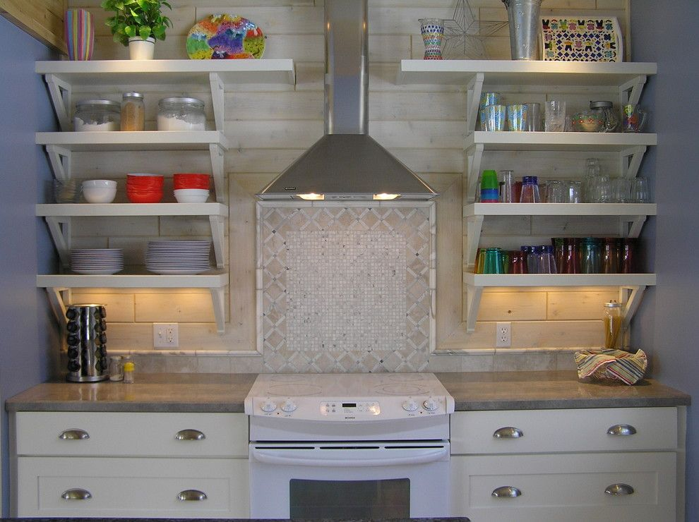 Rakks Brackets for a Traditional Kitchen with a Custom Cabinetry and the Cottage Kitchen by Kevin Healey, the Kitchen Company in Grand Haven, Mi by Holiday Kitchens