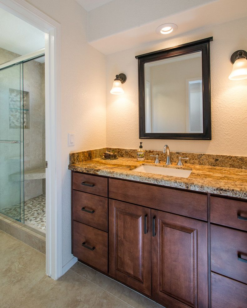 Rancho Bernardo Winery for a Contemporary Bathroom with a Dualsinkcounters and Rancho Bernardo Bathroom Remodel 3 by Remodel Works Bath & Kitchen