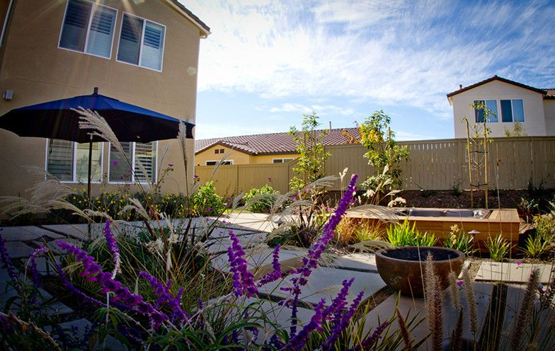 Rancho Bernardo Winery for a Contemporary Landscape with a Deck and Rancho Bernardo Residence   Add Some Color to Your Already Amazing Outdoor Space by Eco Minded Solutions