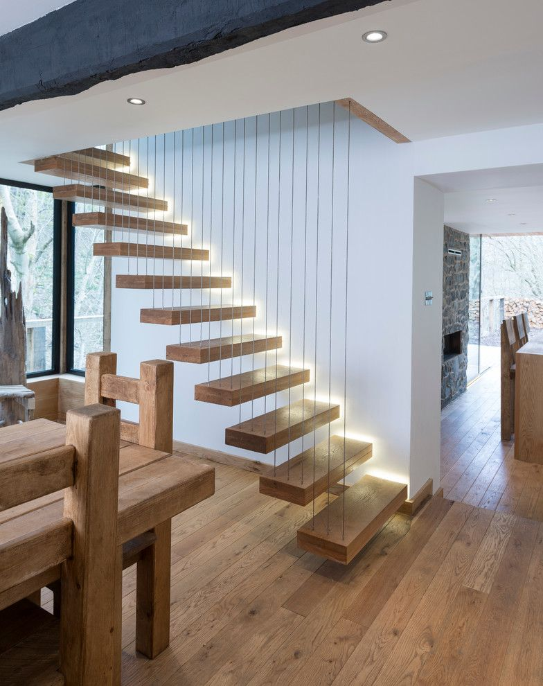Raymond Building Supply for a Contemporary Staircase with a Contemporary Oak Stairs and Stair Parts by Heritage Doors and Floors LTD