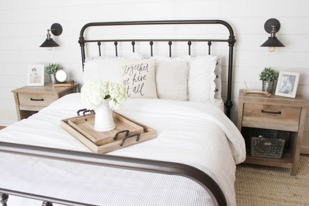 Raymour and Flanigan Ct for a Farmhouse Bedroom with a White and Vintage White Farmhouse Master Bedroom by Raymour & Flanigan Furniture and Mattresses