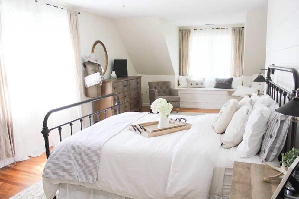 Raymour and Flanigan Ct for a Farmhouse Spaces with a Master and Vintage White Farmhouse Master Bedroom by Raymour & Flanigan Furniture and Mattresses