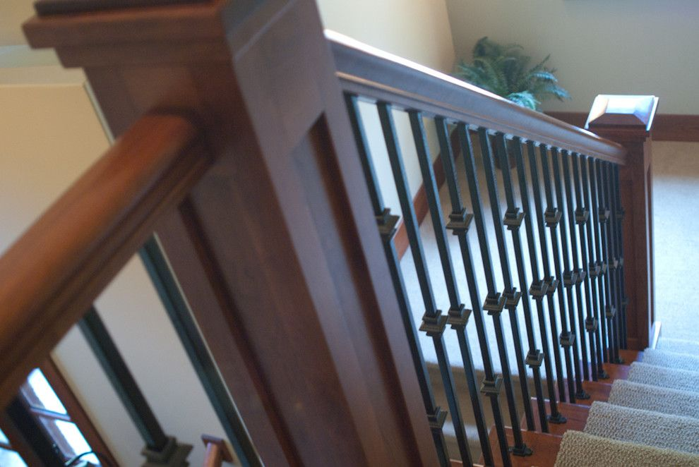 Raynor Doors for a Rustic Staircase with a Pella Architect Series and Country Estate by Troxel Custom Homes