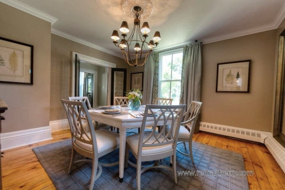 Razberry for a Traditional Dining Room with a Traditional and 1840's Home by Red Razberry Design Group