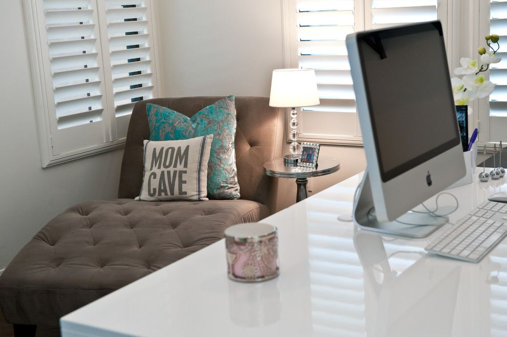 Red Robin Okc for a Contemporary Home Office with a Tiffany and Windgate Ranch by Red Egg Design Group