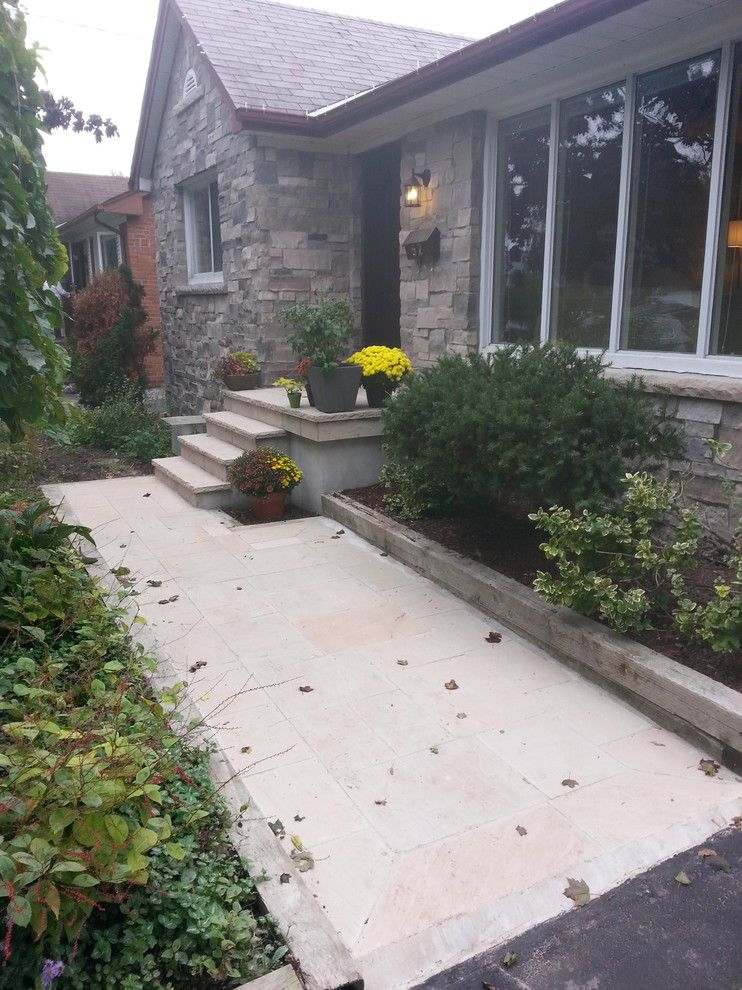 Red Robin Okc for a  Exterior with a Flagstone and Toronto Bungalow Masonry Makeover by Red Robin Masonry