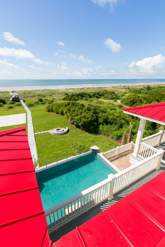 Red Roof Inn Charleston Wv for a Beach Style Exterior with a Custom Built Living and Isle of Palms 1 by Shelter Custom Built Living