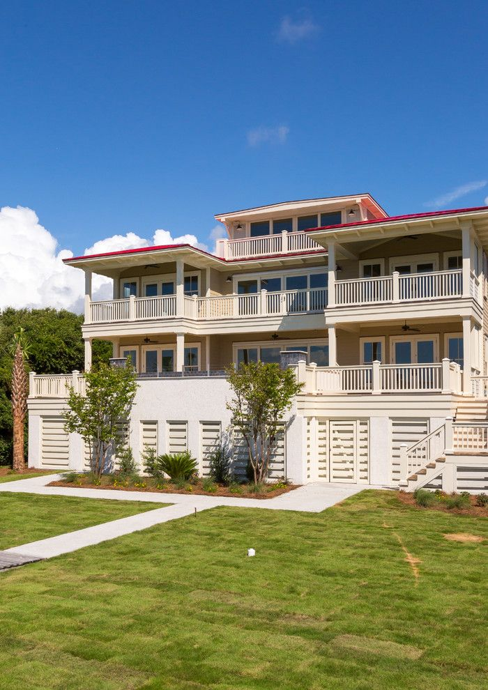 Red Roof Inn Charleston Wv for a Beach Style Exterior with a Ocean Front Living and Isle of Palms 1 by Shelter Custom Built Living