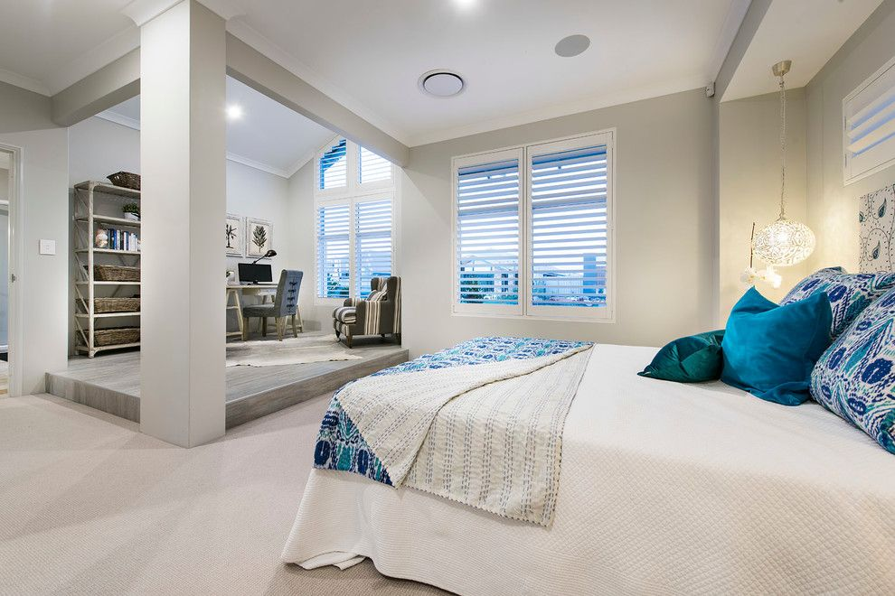 Redondo Beach Wa for a Beach Style Bedroom with a Distressed Furntiture and the Hampton Beach by Wa Country Builders