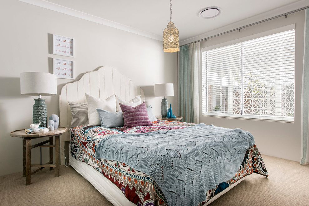 Redondo Beach Wa for a Beach Style Bedroom with a Haptoms and the Hampton Beach by Wa Country Builders