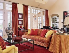 Redx for a Traditional Living Room with a Silk and Living Room by Tina Barclay